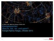 Referat von Herrn Dr. Stefan Linder - Energie-Apéro Aargau