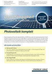 Photovoltaik-Folder - Energie Graz