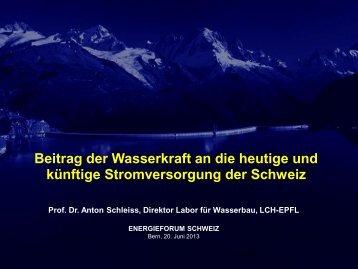 Beitrag der Wasserkraft an die heutige und künftige ...