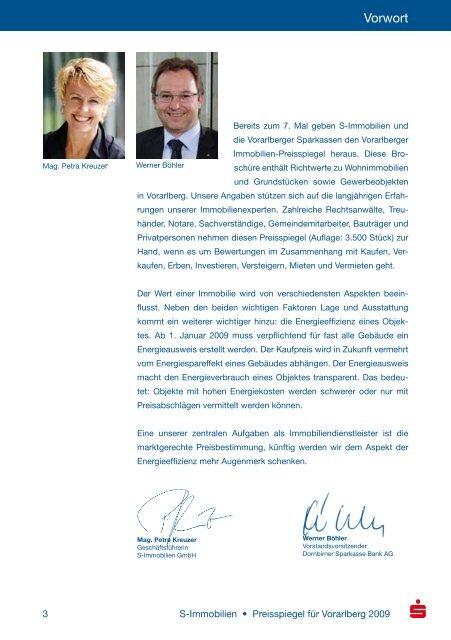 Vorarlberger Immobilien Preisspiegel 2009