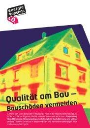 Broschüre Qualität am Bau (2,48 MB) - Bremer Energie-Konsens
