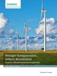 Weniger Komponenten, höhere Rentabilität - Siemens Energy
