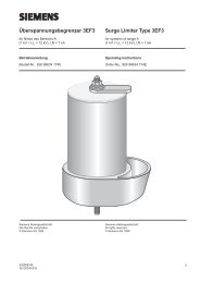 Überspannungsbegrenzer 3EF3 Surge Limiter ... - Siemens Energy