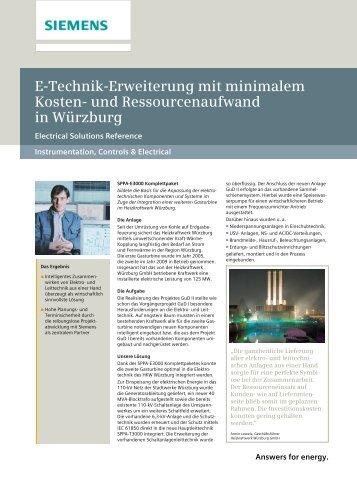 E-Technik-Erweiterung mit minimalem Kosten- und ... - siemens