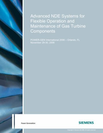 Advanced NDE Systems for Flexible Operation ... - Siemens Energy