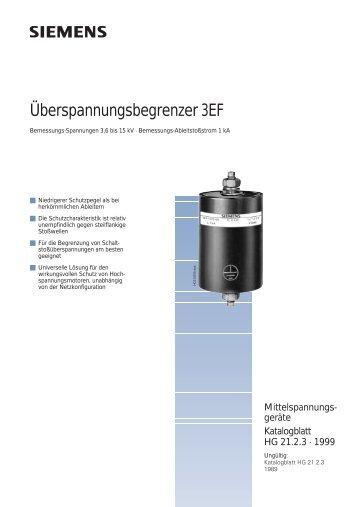 Überspannungsbegrenzer 3EF - Siemens Energy