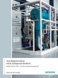 Aus Regeneration wird Anlagensicherheit. - Siemens Energy