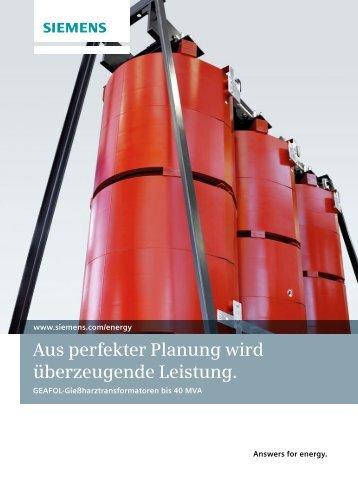 Aus perfekter Planung wird überzeugende Leistung. - Siemens Energy