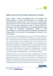 K 2013 - Ausblick - Engel Austria