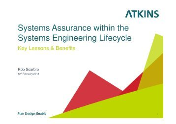 Systems Assurance within the Systems Engineering Life Cycle