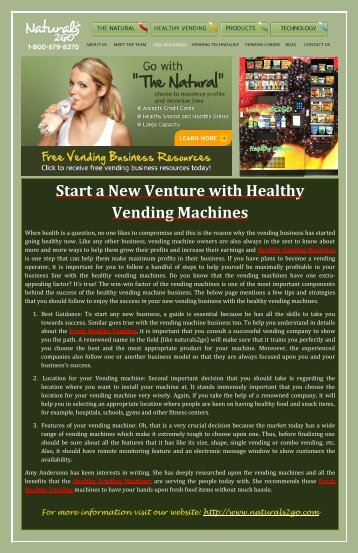 Start a Vending Business and Make Your Income