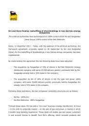 Download the press release (PDF) - Eni