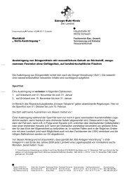 Wasserwirtschaft - Merkblatt Gülleausbringung - Ennepe-Ruhr-Kreis