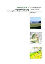 Erläuterungsbericht Grünordnungsplan - Ennepetal