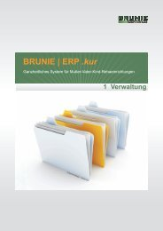 01 BRUNIE ERP kur - Verwaltun... - BRUNIE Software Gmbh