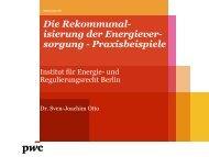 Dr. Sven-Joachim Otto, PwC - Institut für Energie