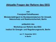 Aktuelle Fragen der Reform des EEG - Institut für Energie