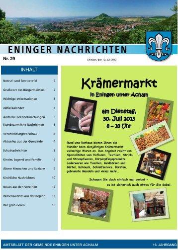 19. Juli 2013 - Gemeinde Eningen unter Achalm