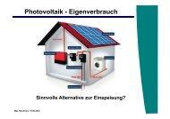 Photovoltaik - Eigenverbrauch
