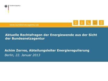 Achim Zerres, Bundesnetzagentur