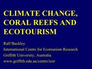 CLIMATE CHANGE, CORAL REEFS AND ECOTOURISM