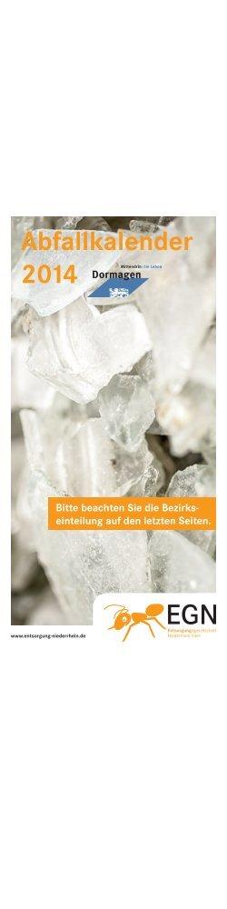 Abfallkalender 2014 - EGN Entsorgungsgesellschaft Niederrhein mbH