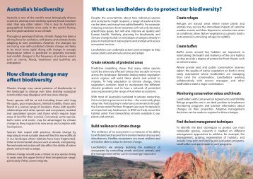 Voluntary Conservation - managing biodiversity for climate change
