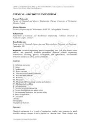 Chemical and Process Engineering - eolss