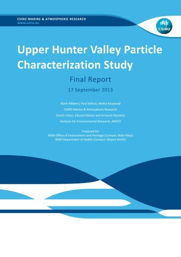 Upper Hunter Valley Particle Characterization Study Final