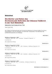 Die Bücher und Noten des Kirchenmusik-Referates der Diözese ...
