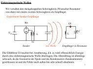 Elektromagnetische Wellen Wir versehen den rückgekoppelten ...