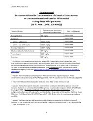 Supplemental Maximum Allowable Concentrations of Chemical ...