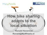 How bike sharing adapts to the local situation - EPOMM