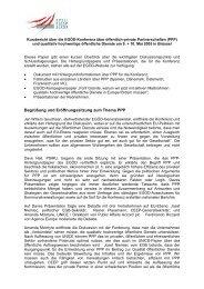 Begrüßung und Eröffnungssitzung zum Thema PPP - EPSU
