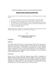 ad hoc working groups summary 2004 - EPSU
