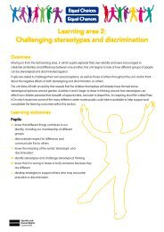 Learning area 2: Challenging stereotypes and discrimination