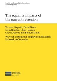 Research report 47: The equality impacts of the current recession.