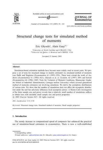 Structural change tests for simulated method of moments