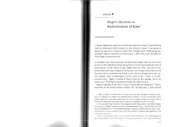 Hegel's Idealism as Radicalization of Kant1
