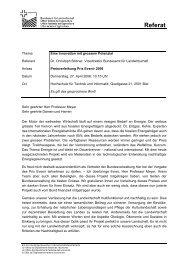 Rede von Dr. Christoph Böbner, Vizedirektor des Bundesamtes für ...