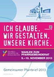 Sonderausgabe zur Pfarrgemeinderatswahl 2013 - erftmuendung.de