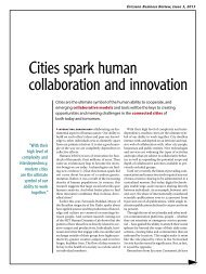 Cities spark human collaboration and innovation - Ericsson