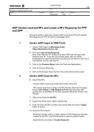 ASP Vendor received RFx and create a RFx Response for ... - Ericsson
