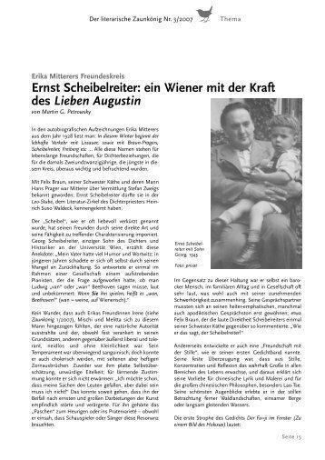 Ernst Scheibelreiter - Erika Mitterer Gesellschaft