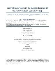 Vrijwilligerswerk in de media: termen in de Nederlandse ... - ERIM