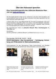 Über den Holocaust sprechen Programm - Erinnern