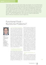 Functional Food – Rechtliche Probleme?
