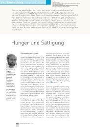 Hunger und Sättigung