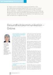 Gesundheitskommunikation – Online