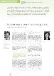 Sozialer Status und Ernährungsqualität